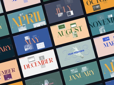 2018: Year in Review 👌 animation branding design interaction editorial clean ui interface ux web website web design