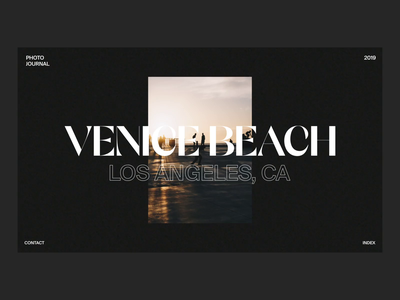 Venice Photobook minimal typography after effects interaction animation clean interface ux web website ui web design