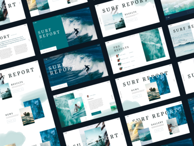 Surf App Concept Screens