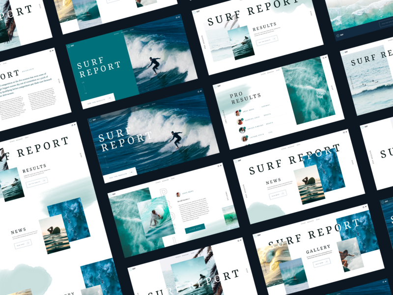 Surf App Concept Screens adobe adobexd brand typography interaction clean interface ux web website ui web design