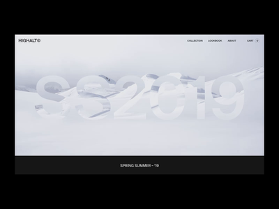HIGHALT© – Scroll reveal lookbook type photography travel logo brand minimal typography interaction after effects landing page illustration branding animation interface ux web website ui web design