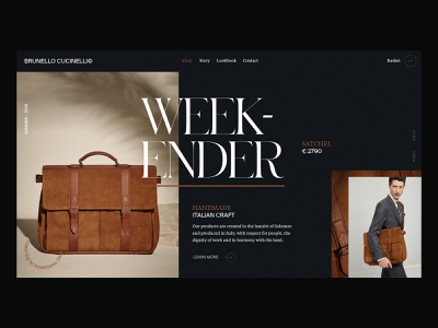 Luxury Bag Site Concept luxury photography fashion minimal typography product page ui designer product landing page interaction branding clean animation interface ux web website ui web design