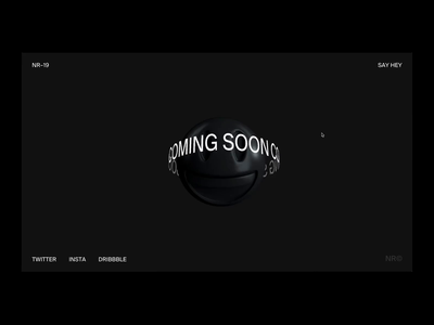 Coming Soon 😃 designer portfolio interaction design interaction web kinetic type typography product design branding animation web designer ui design website glitch web design