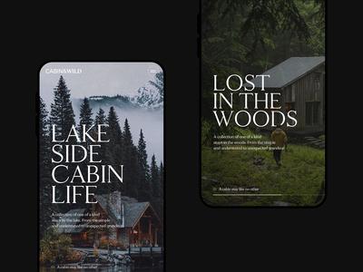 Cabin&Wild Mobile Screens