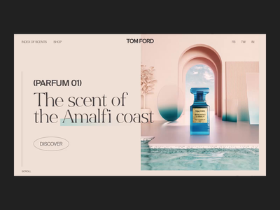 Tom Ford Interactions interaction designer interaction design after effects perfume ui designer landing page interaction branding clean animation interface ux web ui website web design