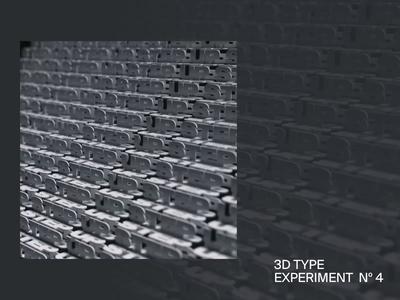 STEP UP — 3D Type Experiment Nº 4 loop 3d art octane render octane cinema4d c4d kinetic kinetic type graphic 3d animation 3d type 3d animation motion design motion
