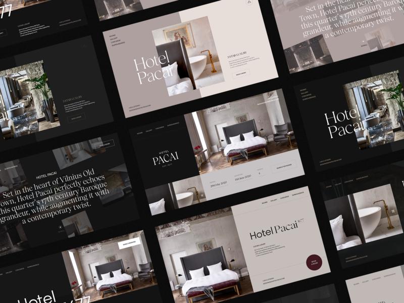 Hotel Pacai Concepts ui animation ui design fashion luxury hotel typography landing page interaction branding clean animation interface ux ui website web design web