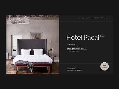 Hotel Pacai Room Selection animated after effects ui designer ui design ux design navigation menu interaction design ui animation animator interaction branding clean animation interface ux web ui website web design