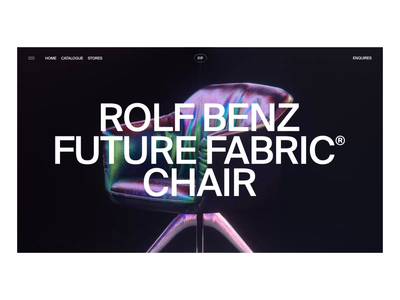 Rolf Benz x Future Fabric Chair Interactions cinema 4d 3d octane render c4d motion graphics animator interaction design after effects interaction branding clean animation interface ux web website ui web design