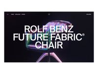Rolf Benz x Future Fabric Chair Interactions
