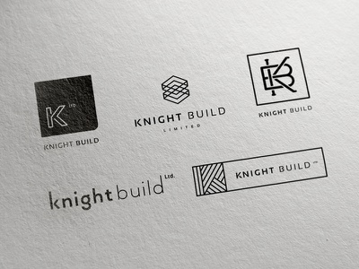 Knight Build Initial Concept logo branding monogram icon identity typography clean minimal