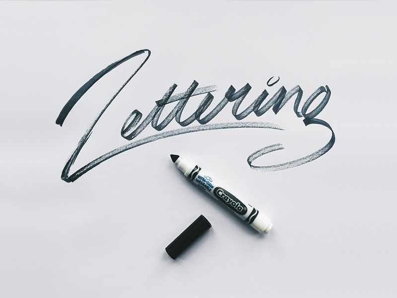 Crayola Lettering practice handstyle handtype crayola script custom brush typography type lettering