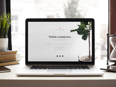 Simple Holding Page daily ui ecommerce landing email signup brand ux ui web design website holding clean minimal