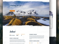 Homepage Section - Discovery Photo Tours website homepage layout ui interaface badge retro nature adventure outdoors icons travel