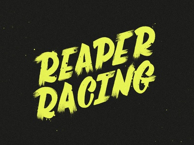 Reaper Racing  hand lettering reaper inktober halloween branding logo script brush custom lettering typography type