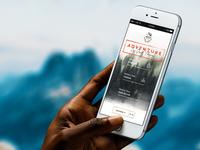 Buck Wild Mobile Home grunge texture explore adventure landing homepage ux ui web design web mobile buck wild