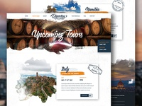 Upcoming Tours - Discovery Photo Tours website homepage layout ui interaface stamp retro nature adventure outdoors icons travel