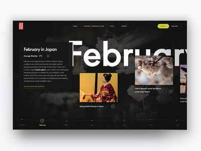 When To Travel adventure travel weather japan interface web design homepage website daily ui timeline
