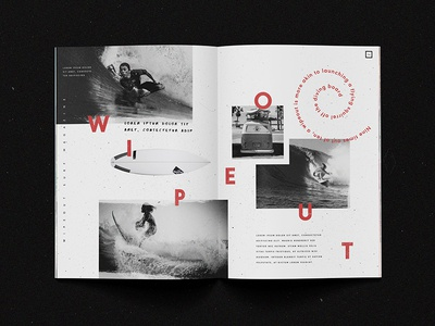 Wipe Out Magazine typography layout extreme sports wipeout magazine surf surfing