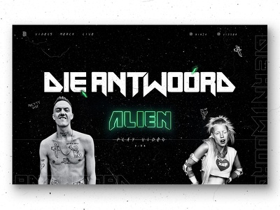 Artist Promo Page die anrwoord texture neon web design homepage desktop promotional promo artist video music