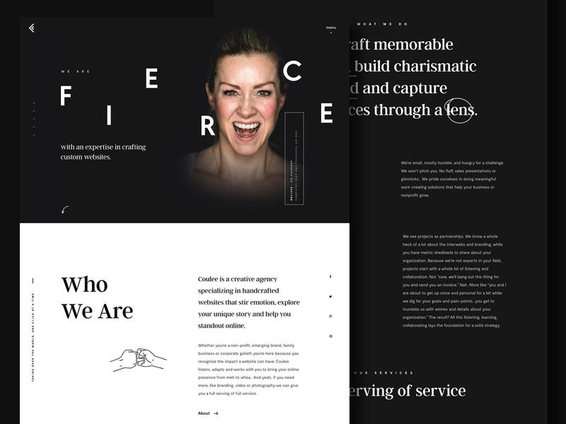 Website Design Agency in Wisconsin | Coulee Creative hero dark clean portfolio web design ux ui fist bump illustration usa studio agency creative homepage website