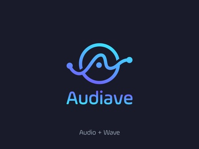 Audiave Sound Wave technology logo logocreation logoinspiration logoprocess brand identity design minimal branding logo design logo
