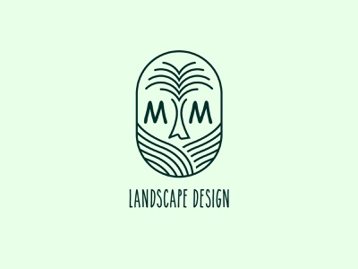 MM Landscape Design LOGO branding design logoprocess logocreation logoinspiration brand identity minimal logo design logo