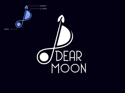 DearMoon project logo Design logomaker logocreation logoprocess logoinspiration brand identity minimal logo design branding design