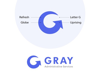Gray Administrative Services logo logoprocess logomaker logocreation logo design logoinspiration brand identity minimal logo design branding