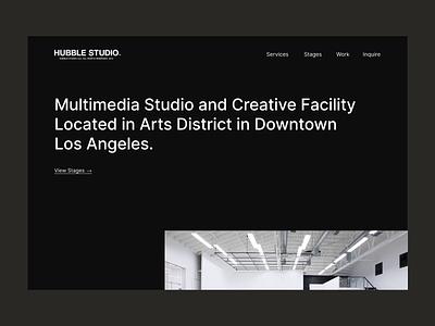 Hubble Studio — Landing Page minimal web design design digital art direction studio after effects protopie animation interaction design ux ui website ui design