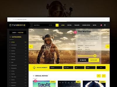 TusMovie Ui / Ux Design colorful color pattern flatdesign mobile app webdesign uidesign uxdesign layout design ux ui