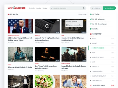 Video Portal Ui / Ux Design website web design web ux ui typography product outdoor layout interface homepage digital