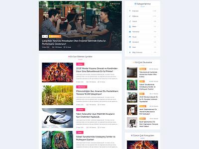 Blog Ui/Ux Design colorful art modern layout ui ux design ux blog ui ui design personal blog blog design blog