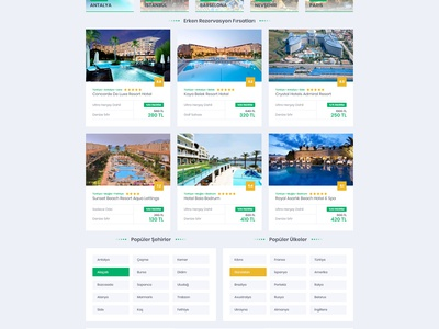 Hotel Booking Web Site Ui/Ux Design layout clean flat follow ux design tour hotel booking art green ui design booking hotel