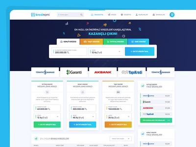 Banka Kredi Sistemi Arayüz Tasarımı app mobile colorful flat design ui desing ux ui arayüz finans banka kredi