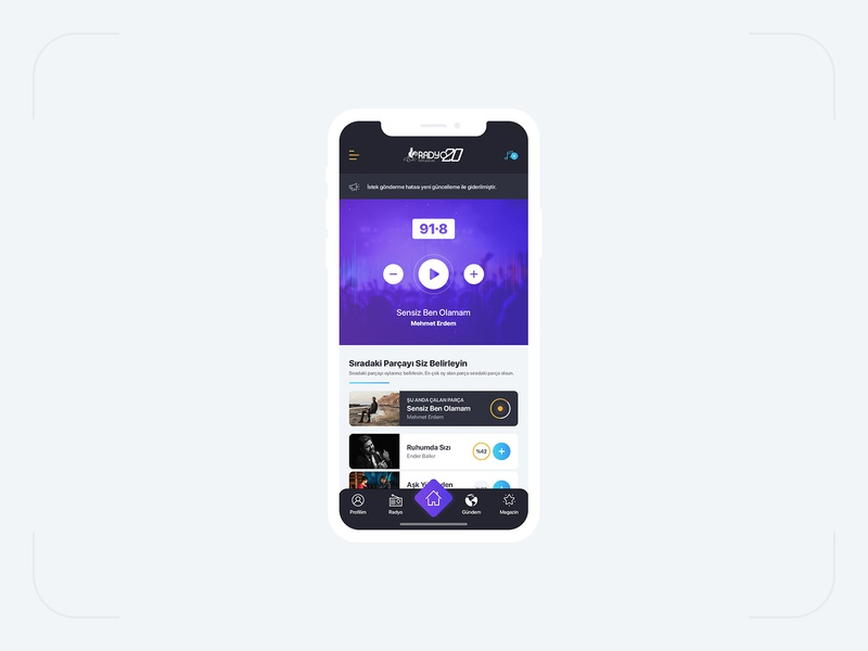 Radio App Home Page Design by sait tuzcu on Dribbble on