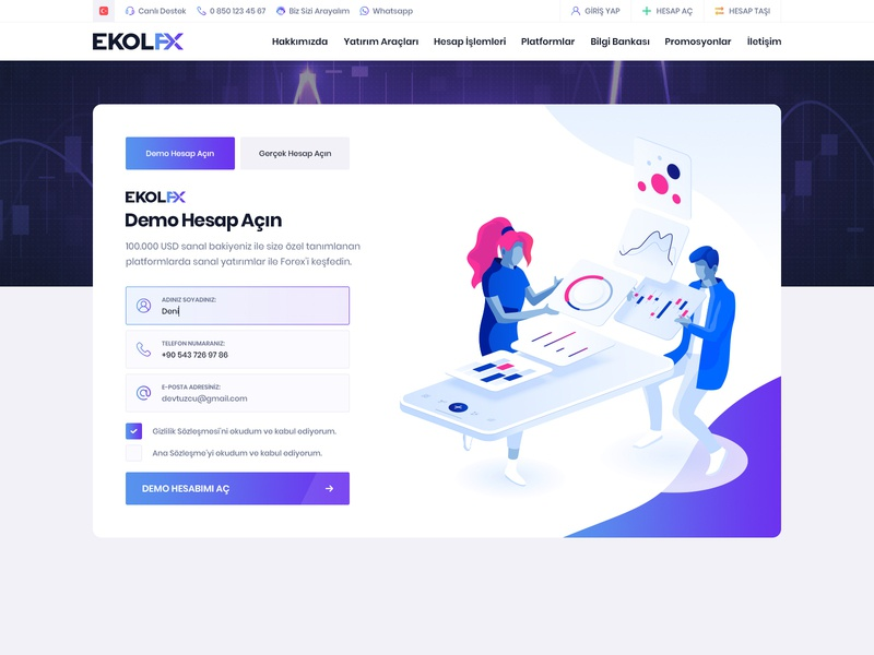 Forex Ui & Ux Design Demo Account vector illustration art clean colorful modern layout sign up page register page login page bigdata data login vector chart exchange crypto exchange crypto currency crypto crypto trading forex