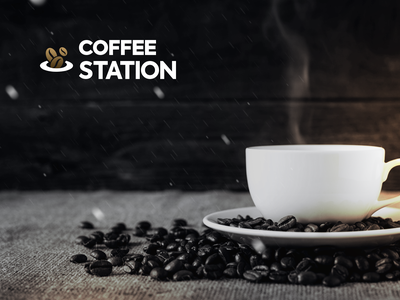 Coffee Station Logo ux design ui design design typography vector illustration art coffee coffee logo branding logo logo design branding logo design