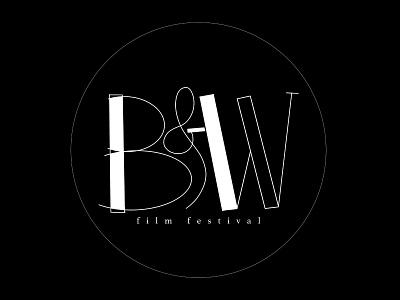 Logo Design: B&W Film Festival digital illustration film festival black and white brand identity brand design digital design branding illustrator photoshop procreate hand-lettered logo lettering typography image design type design type and image graphic design logo design