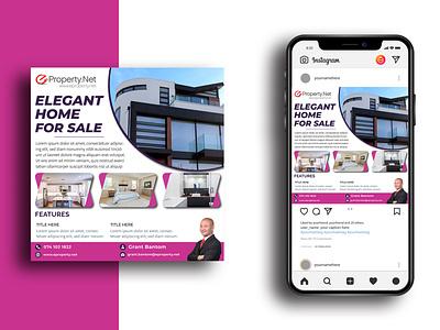Real Estate Social Media Ads Design design logo brand design real estate illustration illutrator photoshop graphics design brochure design flyer design f social media ads social media