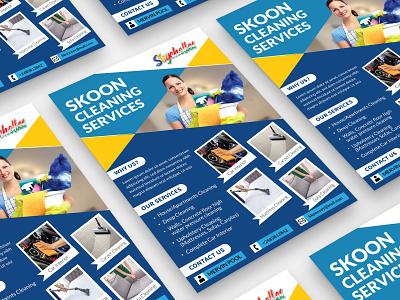 Skoon Cleaning Service Flyer Design illustration graphics design brand design real estate real estate flyer cleaning service brochure flyer brochure design flyer design