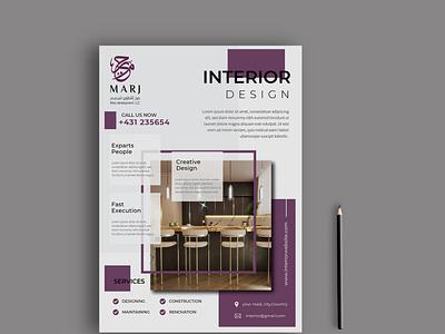 Interior Design Flyer Design logo photoshop illustrator graphics design brand design brochure flyer real estate interior design brochure design flyer design