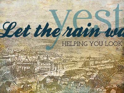 Rain vintage typography