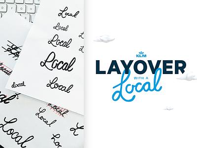 Layover with a Logo ;) typography logotype logomark branding design app logo air layover klm