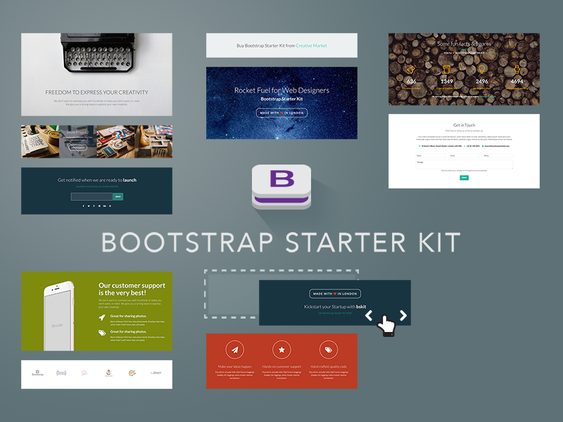 Bootstrap Starter Kit Launch Graphics 1 By Theme Spirit Dribbble