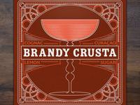 Brandy Crusta Coaster