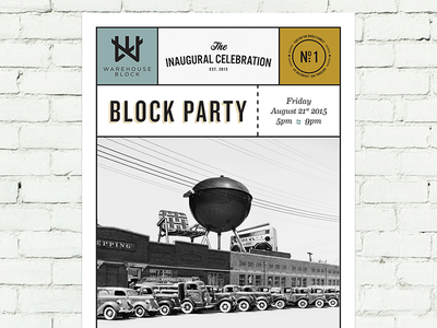 Warehouse Block Poster collage print poster