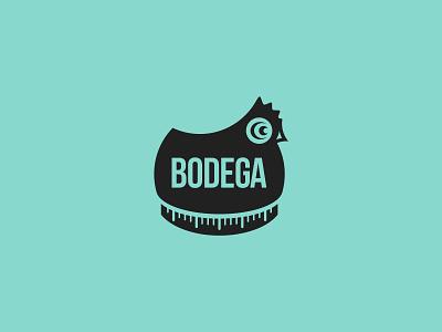 Bodega Magazine vector graphic design teal creative bodega timer chicken mark logodesign logo design logo identity brand identity brand