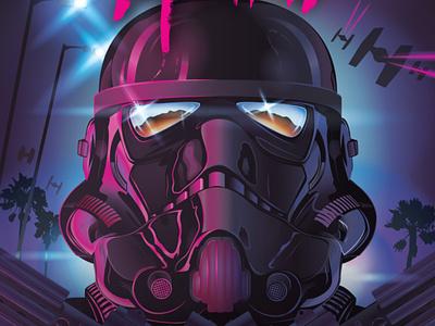 Miami Trooper 80`s 80s miami helmet starwars star wars stormtrooper vector illustration illustration art illustraion vector art vectorart digital art digitalart