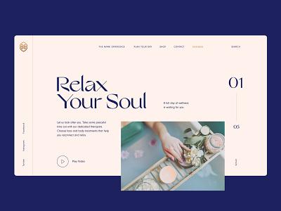 Avani Desktop UI concept web wellness typography luxury layout clean website logo identity brand identity brand